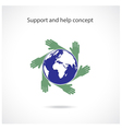 Support and help concept vector image