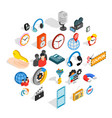 technical detail icons set isometric style vector image vector image