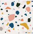 terrazzo seamless pattern with vivid stone or rock vector image vector image