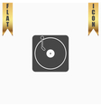 Turntable dj icon vector image vector image