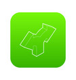 two way direction arrow icon green vector image