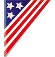 united states flag frame corner vector image vector image