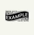 vintage elegant line art logo emblem and monogram vector image