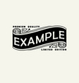 vintage elegant line art logo emdlem and monogram vector image vector image