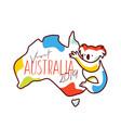 visit australia 2019 merchandise vector image vector image