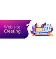 web development header or footer banner vector image vector image
