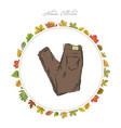 jeans hand draw clothes autumn collection frame vector image