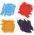 Ink brush strokes color vector image