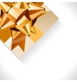 gift box and big gold bow vector image