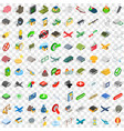 100 war icons set isometric 3d style vector image vector image