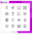 16 universal outlines set for web and mobile vector image vector image