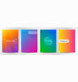 abstract line gradient color for book cover vector image vector image