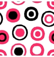 Abstract seamless pattern with grunge circles vector image vector image