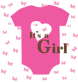 baby clothes girl vector image vector image