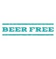 Beer Free Watermark Stamp vector image