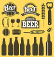 Beer icons labels signs symbols design
