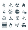 Biohazard and science icons set