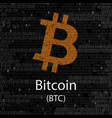 bitcoin cryptocurrency background sign vector image