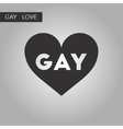 black and white style icon gays homosexual heart vector image