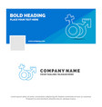 blue business logo template for gender venus mars vector image