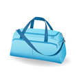 blue sport bag for sportswear and equipment icon vector image vector image
