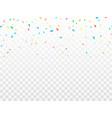 bright confetti festival background vector image