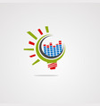 bulb graphics equalizer logo icon element and vector image