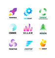 business company logo set abstract modern vector image vector image