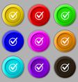 Check mark tik icon sign symbol on nine round vector image vector image