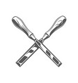 chisels isolated on white background vector image vector image