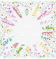 confetti serpentine transparent background vector image vector image