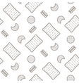 cookie line icon seamless pattern vector image vector image