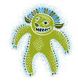 cool cartoon monster simple weird creature green vector image