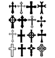 Cross silhouettes vector image vector image