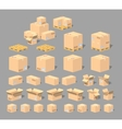 Cube World Cardboard boxes vector image vector image