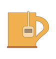 cup with tea bag icon image vector image vector image
