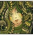 decorative beautiful girl portrait vector image