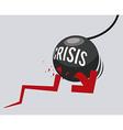 financial crisis design vector image