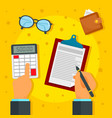 financial paper work concept background flat vector image