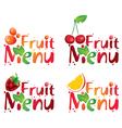 Fruit menu vector image