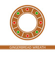 gingerbread christmas wreath vector image vector image