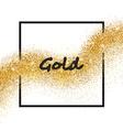 golden sparkling falling star vector image