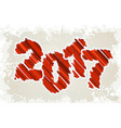 happy new year design red grunge paint brush vector image vector image