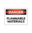 higly flammable sign caution hazard icon vector image vector image