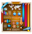 Infographic with a lot of design elements vector image vector image