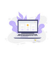 laptop computer isolated icon flat vector image