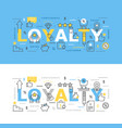 loyalty program with icons vector image vector image