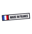 Made in france stamp with french flag