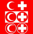 medical cross and medical crescent a set of vector image vector image