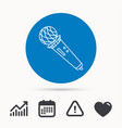microphone icon karaoke sign vector image